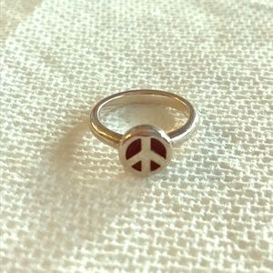 James Avery retired peace sign ring